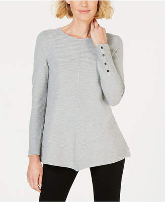 Alfani Ribbed Snap-Detail Sweater