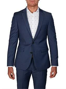 Simon Carter 2B Sv Pin Dot Notch Lapel Alfie Suit Jacket