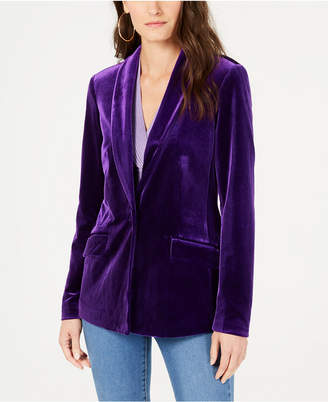 INC International Concepts I.n.c. Petite Velvet Blazer