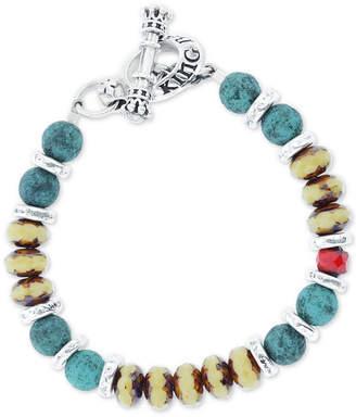 M. Cohen Mens Ceramic & Sterling Silver Bracelet UF9IRpRjqN