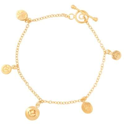 Styleserver DE Satya Armband mit Om, Hamsa und Lotus Charms vergoldet