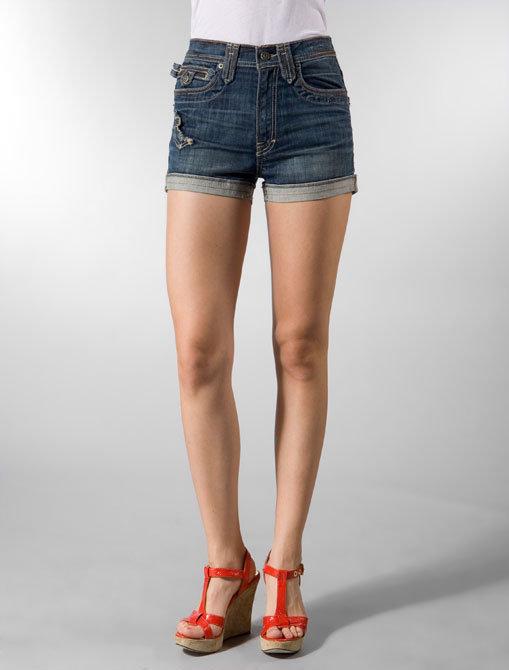 Taverniti So Jeans Beegees Short in Dark Blue