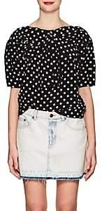 Marc Jacobs Women's Polka Dot Silk Blouse-Blk, Wht