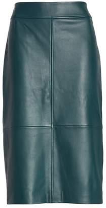 BOSS Selrita Lambskin Leather Pencil Skirt