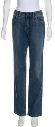 Trussardi Mid-Rise Straight-Leg Jeans