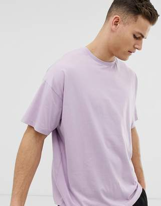 Asos Design DESIGN oversized t-shirt with crew neck in purple