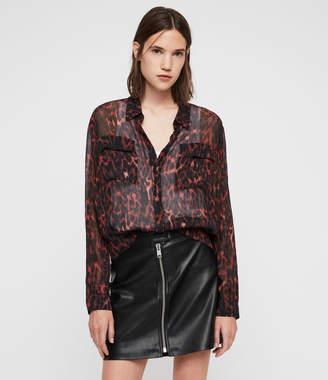 AllSaints Adeliza Leopard Shirt