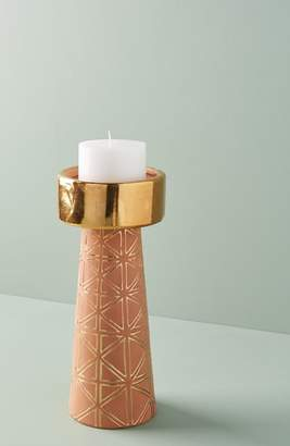 Anthropologie Geo Pillar Candleholder
