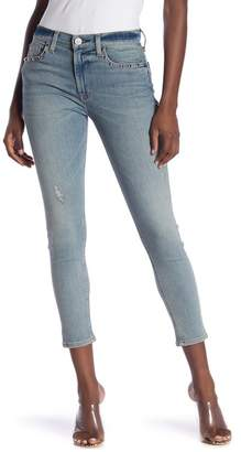 Hudson Jeans Barbara High Rise Studded Cropped Skinny Jeans