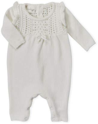 Cuddl Duds Newborn Girls) Pointelle Knit Romper