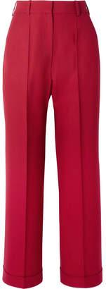 Racil Charlie Cropped Wool-piqué Wide-leg Pants