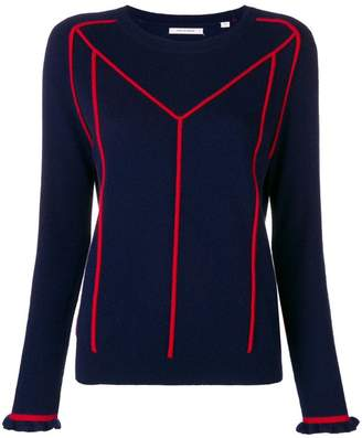 Parker Chinti & contrast embroidered sweater
