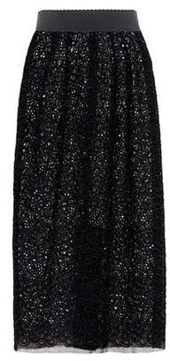 Dolce & Gabbana Floral-embroidered midi skirt