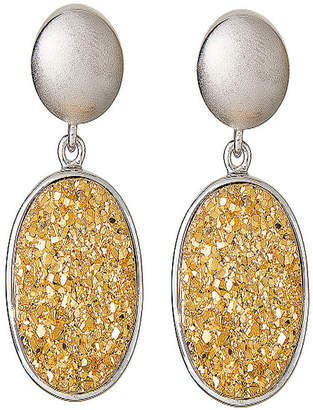 FINE JEWELRY LIMITED QUANTITIES Oval Drusy Quartz Sterling Silver Drop Earrings 2