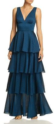 Laundry by Shelli Segal Tiered Ruffle Gown