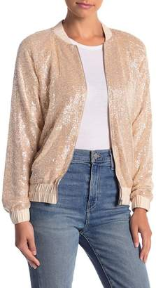 Wild Honey Sequin Bomber Jacket