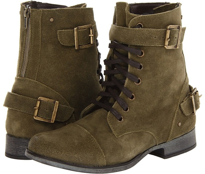 Dolce Vita Sargeant (Olive) Women's Lace-up Boots
