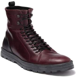Hudson Hood Rubber Waterproof Leather Lace-Up Boot