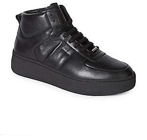 Maison Margiela Men's Leather High-Top Sneakers