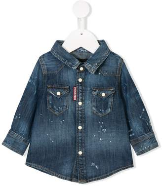DSQUARED2 (ディースクエアード) - Dsquared2 Kids stain effect denim jacket