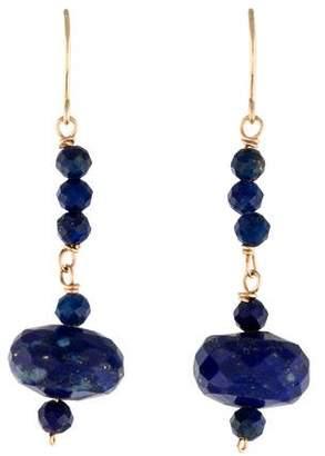 Lapis 14K Drop Earrings