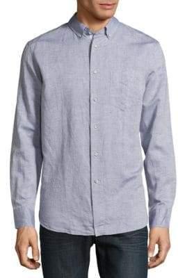 Rag & Bone Ventura Regular-Fit Cotton & Linen-Blend Button-Down Shirt