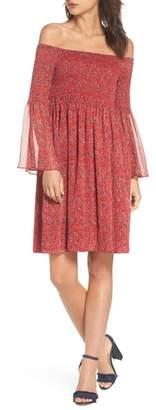 Sam Edelman Off the Shoulder Babydoll Dress
