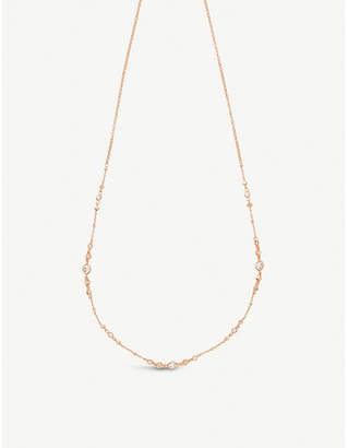 Kendra Scott Winifred 14ct rose gold-plated and cubic zirconia necklace