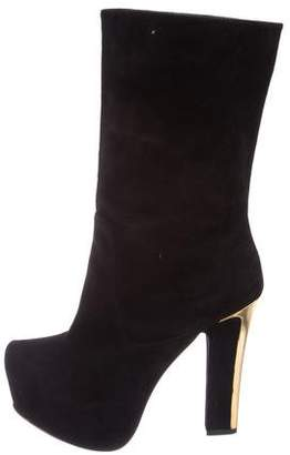 Theyskens' Theory Suede Platform Boots