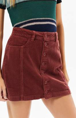 PacSun Button Front Corduroy Skirt