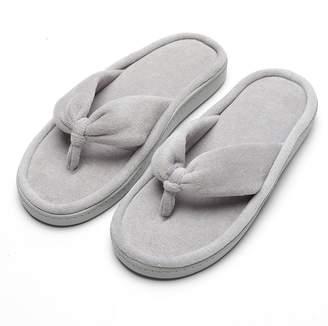 2c62ed03553a Fly London HAWK Women Spa Thong Flip Flops Velvet Memory Foam Indoor House  Slippers