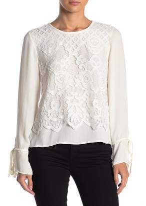 ONE ONE SIX Majestique Lace Overlay Blouse