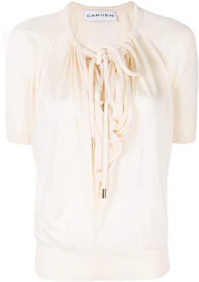 Carven drawcord blouse