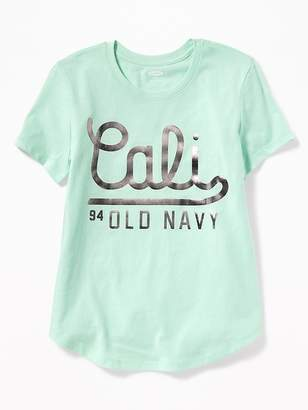 Old Navy Foil Logo-Graphic Tee for Girls