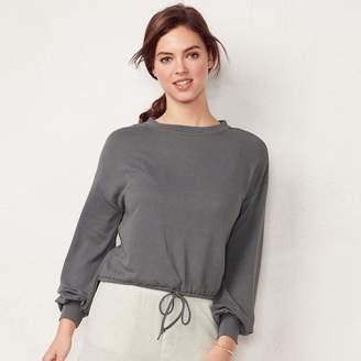 Lauren Conrad Women's Drawstring Crop Sweatshirt