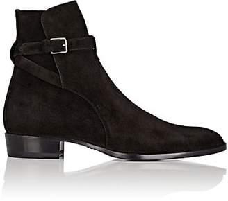 Saint Laurent Men's Suede Jodhpur Boots - Black