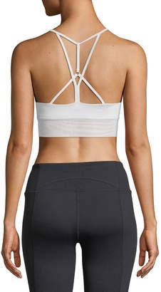 Alo Yoga Lush Strappy-Back Sports Bra, Black