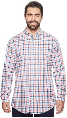 Nautica Big Tall Gingham Plaid Woven Shirt Men's Clothing