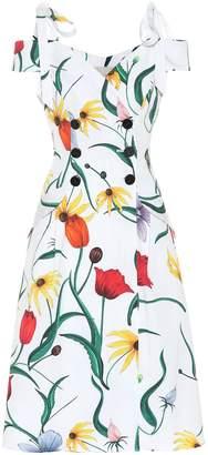 Carolina Herrera Floral cotton-blend trench dress