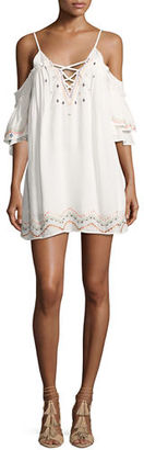 Red Carter Naples Embroidered Swim Coverup Dress $240 thestylecure.com