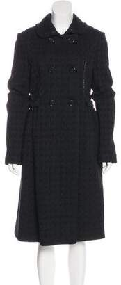 Bottega Veneta Wool & Silk-Blend Double-Breasted Coat