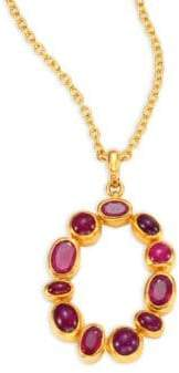 Gurhan Amulet Hue Ruby& 24K Yellow Gold Pendant Necklace