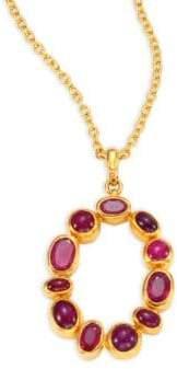 Gurhan Amulet Hue Ruby& 24K Yellow Gold Pendant Necklace