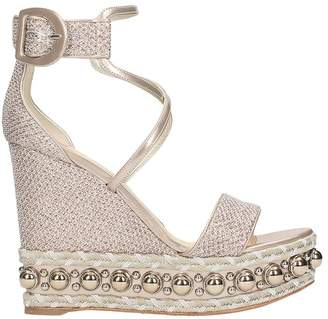 Christian Louboutin Chocazeppa 120 Glitter Wedge Sandals
