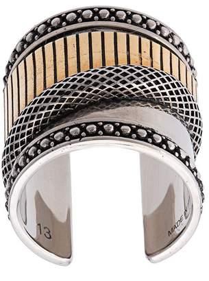 Alexander McQueen Mechanical cuff ring