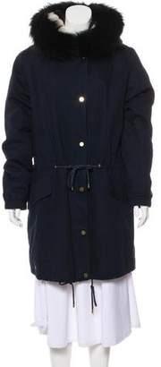 Vince Fur-Trimmed Hooded Coat