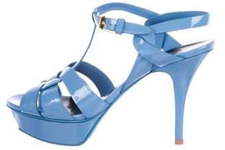 Saint Laurent Platform Leather Sandals