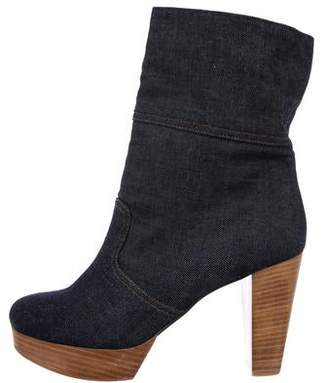Robert Clergerie Denim Ankle Boots