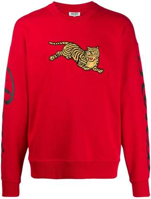 Kenzo embroidered tiger jumper