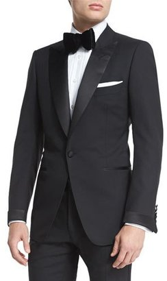 TOM FORD Buckley Base Peak-Lapel Tuxedo, Black $4,620 thestylecure.com